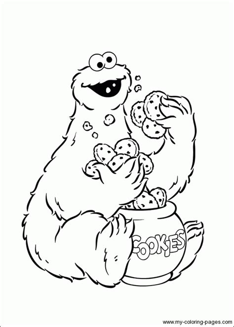 coloring page cookie monster cookie monster party