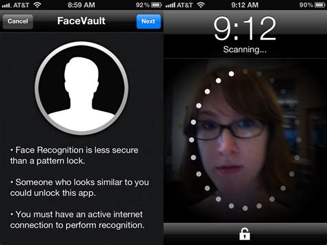 pattern recognition android code facevault app brings facial recognition unlocking to ios