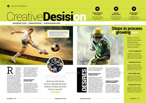 layout majalah game sport magazine by becreative graphicriver
