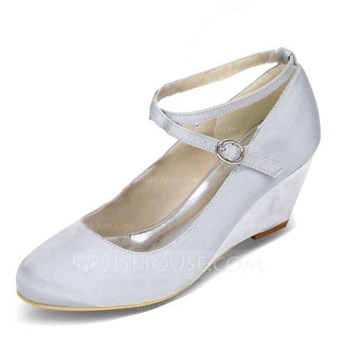 Wedge Heel Pumps s satin wedge heel closed toe pumps wedges with