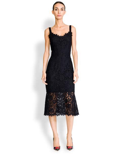 Dres Gabbana Dolce lyst dolce gabbana lace corset dress in black