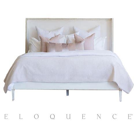 velvet queen bed eloquence antique white gold leaf cassia ivory velvet