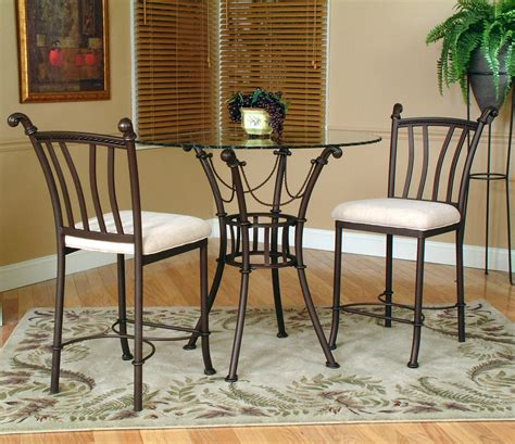 glass pub table and chairs 3 counter height glass table and chair by cramco
