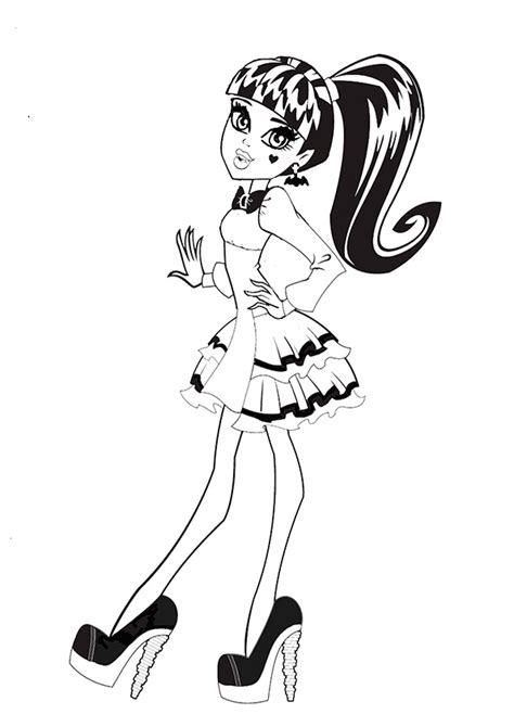 draculaura and clawd monster high coloring color zini monster high draculaura coloring page get coloring pages