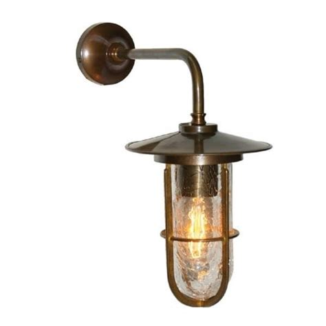 antique silver industrial style wall light with well glass shade character antique brass warehouse wall light with crackle