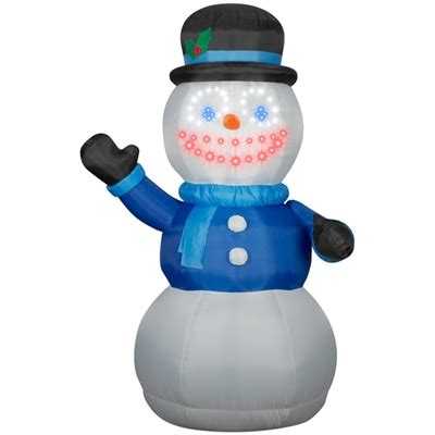 giant airblown lightsync singing snowman