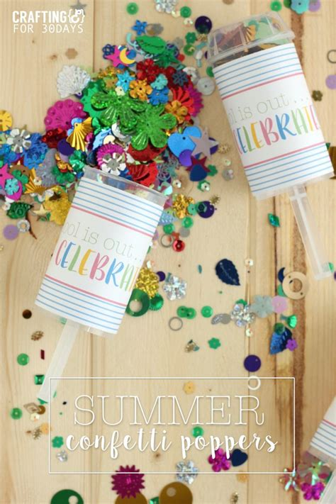 30 Handmade Days - summer confetti poppers