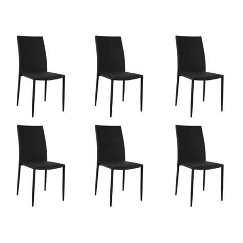 lot 6 chaises noires loola lot 6 chaises noires achat vente chaise salle a