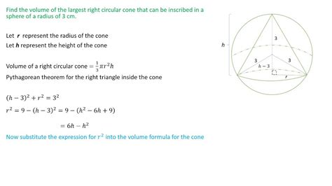 find  largest  circular cone    inscribed   sphere youtube