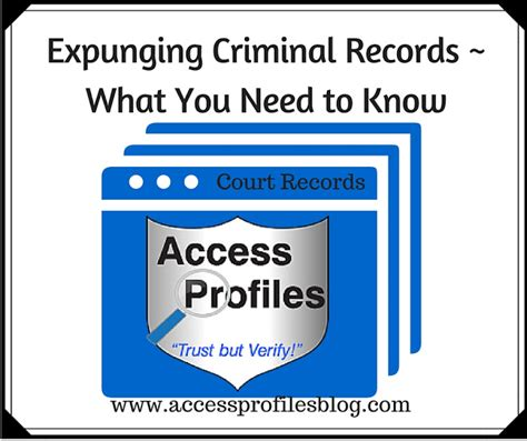 What Is Expunging A Criminal Record Access Profiles Inc Expunging Criminal Records What You Need To