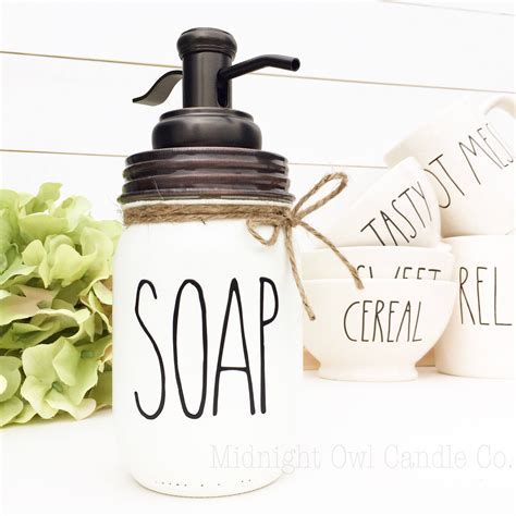rae dunn inspired soap dispenser mason jar soap dispenser