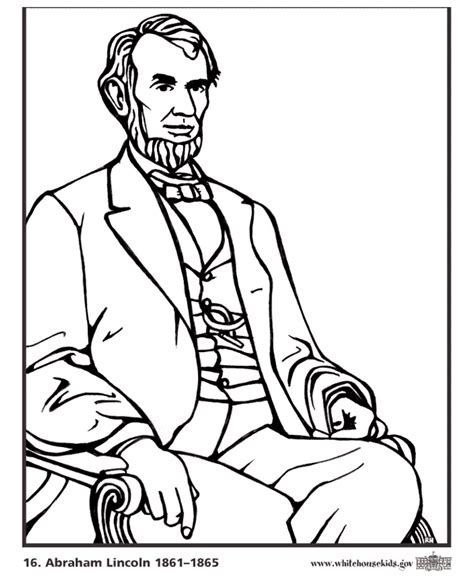 printable coloring pages us presidents presidents day printable coloring pages coloring home