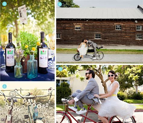 Finishing Touches: Bike Theme   Exquisite Weddings