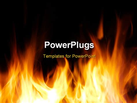 powerpoint templates free download fire powerpoint template fire flames over dark background 12283