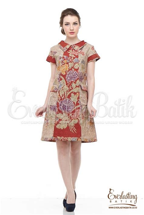 Dress Batik Handmade 17 terbaik ide tentang modern batik dress di