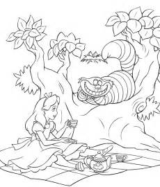 alice wonderland coloring pages coloringpages1001
