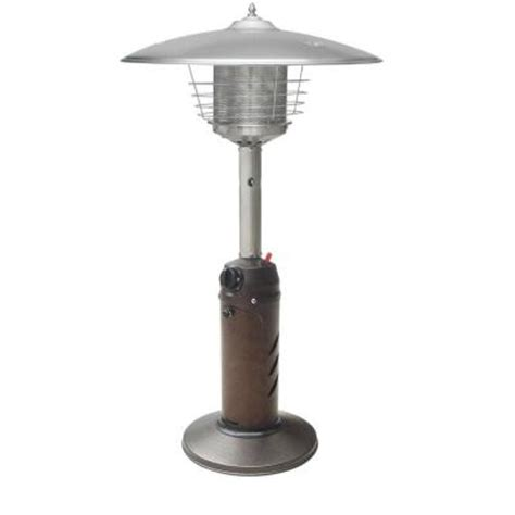 Tabletop Propane Patio Heater Gardensun 11 000 Btu Powder Coated Bronze Tabletop Propane Patio Heater Hps C Pc The Home Depot