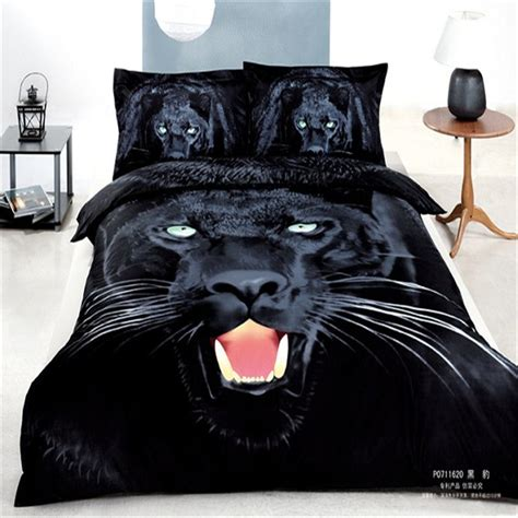 black panther animal 3d printed comforter bedding set