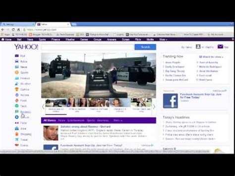 make yahoo my home page on chrome