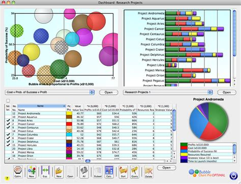 project portfolio dashboard template project portfolio dashboard now in chart pro 3 5