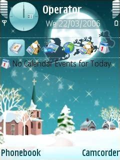 cartoons themes mobile download santa fly nokia theme mobile toones