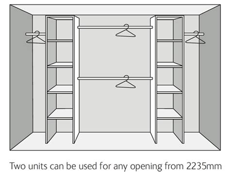 Made To Measure Bedroom Wardrobes Wardrobe Interior Kits Economy Range Sliding Wardrobe