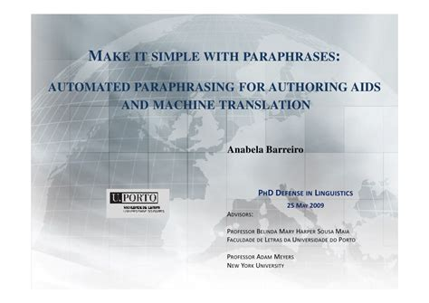 thesis defense translation deutsch make it simple with paraphrases automated paraphrasing