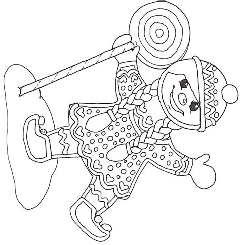 jan brett coloring pages gingerbread baby gingerbread mural gingerbread girl with lollipop reversed