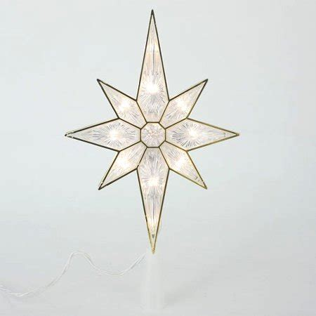 bethehem star plans 11 quot lighted faceted bethlehem tree topper clear lights walmart