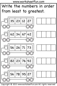 numbers ordering free printable worksheets worksheetfun