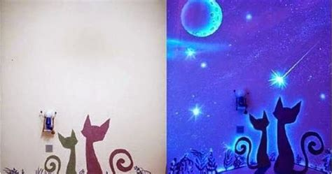 glow in the dark wall murals diy glow in the dark paint wall murals diy craft projects
