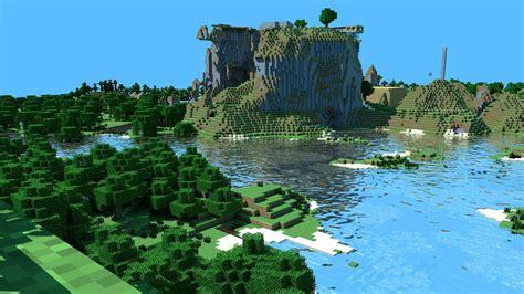 Minecraft fondo de escritorio montañas hd: pantalla ancha