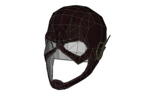 Papercraft Helmet - dc comics size flash helmet free papercraft