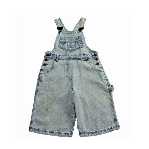 Snow Wash snow wash cropped dungarees 10 blue 17 vintage fashion