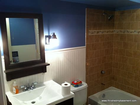 Bathroom Trim Ideas by Basement Bathroom One Mans Quest To Finish His Basement