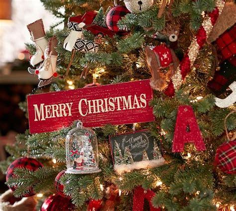merry christmas sign ornament pottery barn