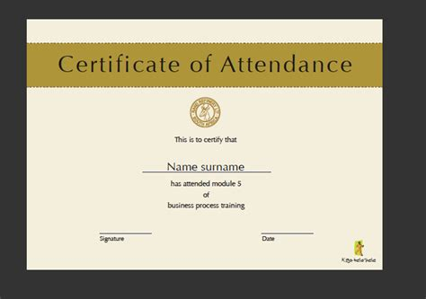 create a certificate template herbert stanford free of the year award