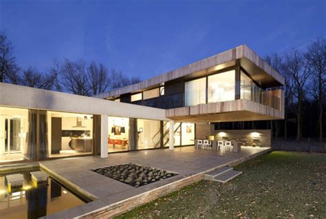 House L L Shaped Modern Villa In The Netherlands House At The