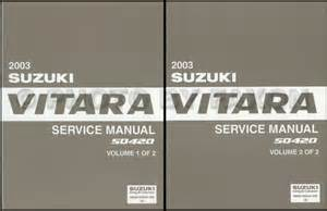 Suzuki Grand Vitara Owners Manual 2003 Suzuki Grand Vitara Xl 7 Repair Shop Manual Set
