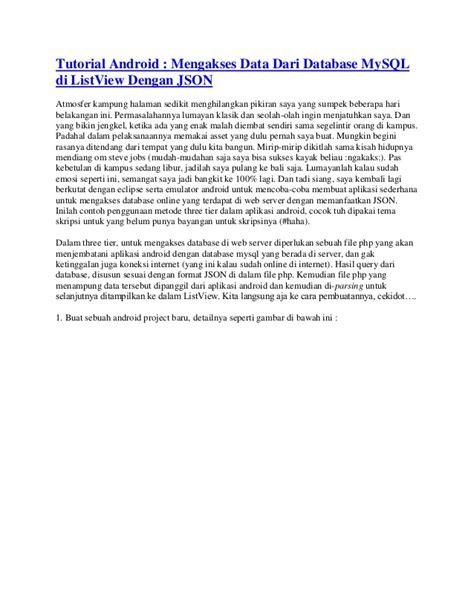 belajar membuat json mengakses data dari database my sql di listview dengan json