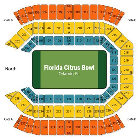 citrus bowl stadium seating map citrus bowl seating map my