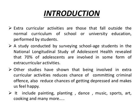Essay On Importance Of Co Curricular Activities In Students by Essay On Importance Of Extracurricular Activities In School Articledatabase Web Fc2
