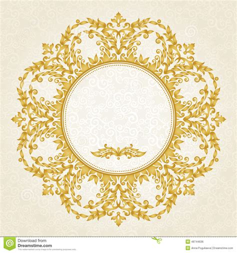 victorian pattern frame vector ornate frame in victorian style stock vector