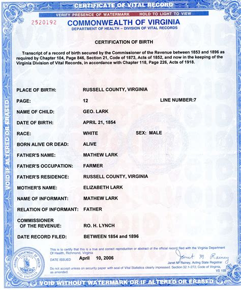 Birth Record Birth Certificates Vital Records Pdf
