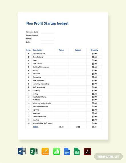10 Nonprofit Budget Templates Word Pdf Excel Free Premium Templates Nonprofit Startup Budget Template
