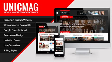 unicmag template wordpress magazine
