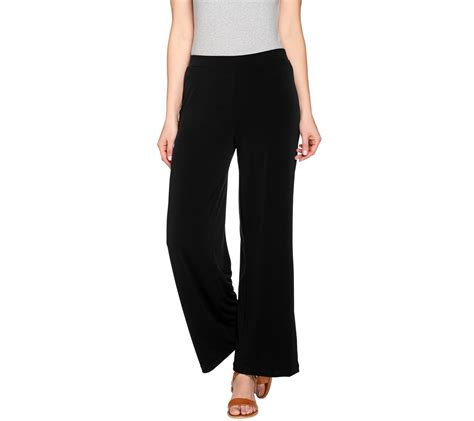 comfort knit jeans susan graver liquid knit comfort waist wide leg pants