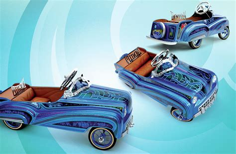 60s era fire truck pedal car blue moon
