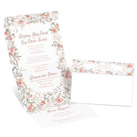 Wedding Invitation Frame by Wildflower Frame Foil Seal And Send Invitation