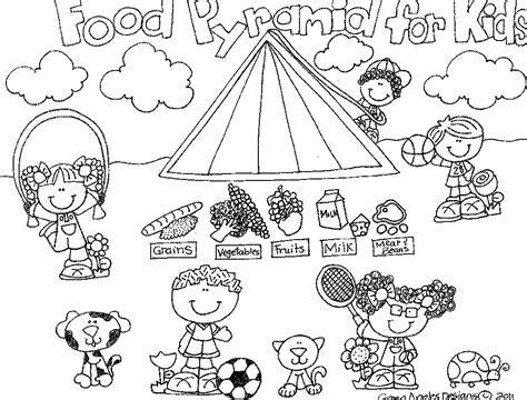 food pyramid coloring food pyramid coloring pages